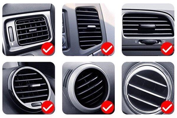 Držač za mobitela može se staviti u ventilacijski otvor auta